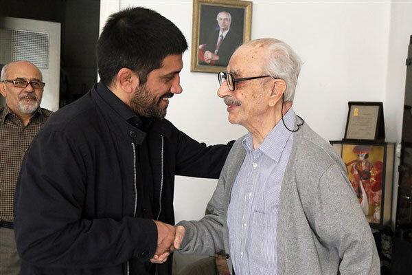 علیرضا دبیر با رئیس پیشین فدراسیون کشتی دیدار کرد