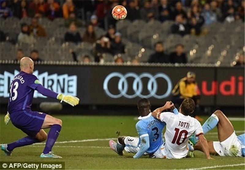 شکست رم برابر من سیتی در جام قهرمانان بین المللی
