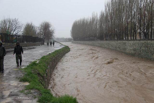 طغیان رودخانه ها در قزوین خسارتی نداشت