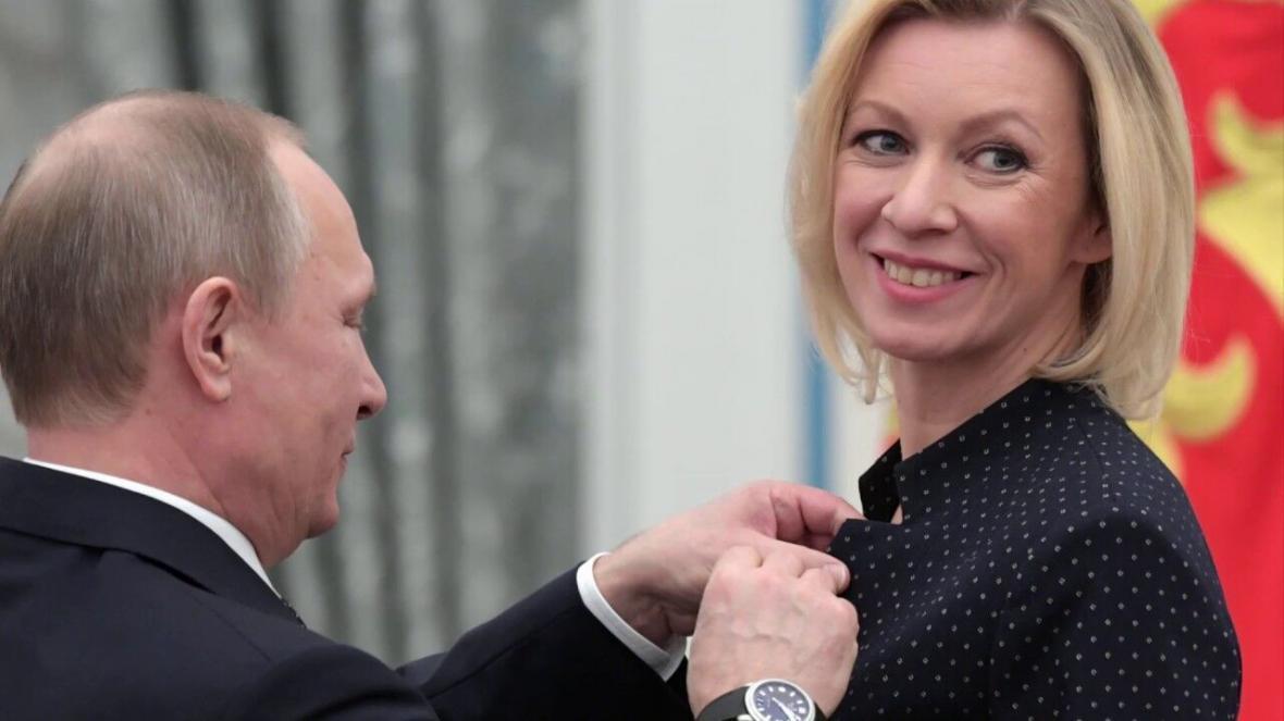 اعطای بالاترین نشان دیپلماتیک پوتین به سخنگوی دولت روسیه