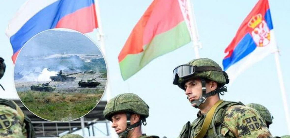 خبرنگاران قدرت نمایی مقابل ناتو؛ رزمایش مشترک روسیه، بلاروس و صربستان