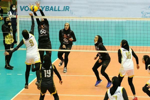 شکست تیم والیبال بانوان شهرداری قزوین مقابل سایپا