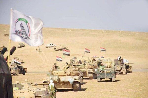 عملیات حشد شعبی در عمق صحرا تا مرز های عراق و عربستان