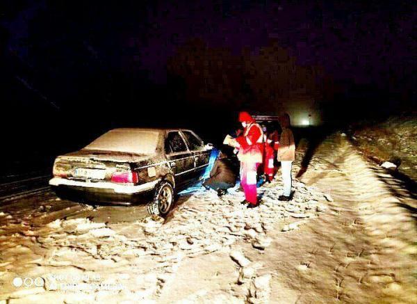 امدادرسانی هلال احمر آذربایجان غربی به 118 نفر گرفتار در کولاک