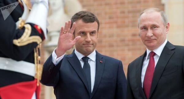 درخواست ماکرون برای مذاکره با پوتین