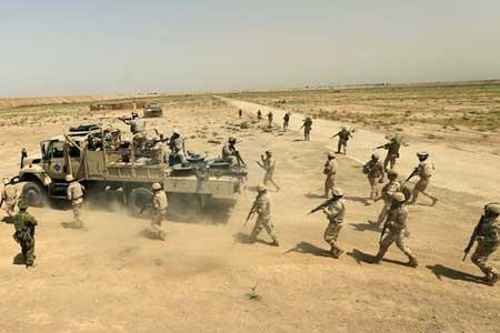 موفقیت حشد الشعبی در کشف و انهدام یک میدان مین متعلق به داعش